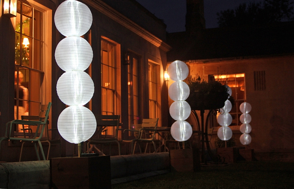 Stylish Portable Lighting for Wedding