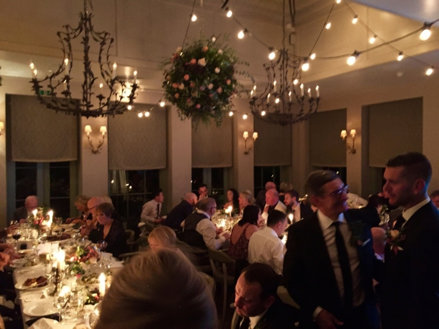 Our client loved clear festoon lighting bulbs so we created this to his brief and everyone had a great time and loved it.