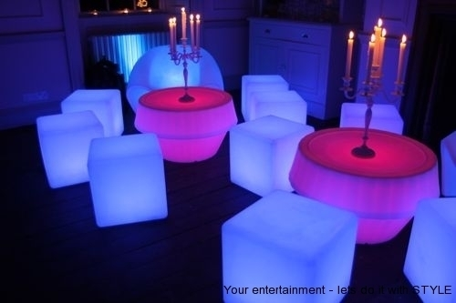 LED Furniture hire and supply or weddings, parties and events.