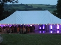 Image of pole marquee and LED violet lighting.