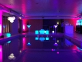 LED Cocktail Bar with LED Furniture and Mood Lighting in a swimming pool.