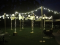 A Free Standing Canopy for a Wedding.