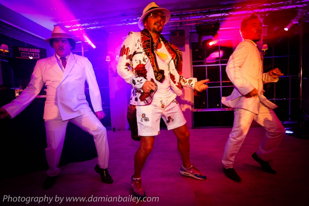 The outstanding Cuban Brothers performing at a wedding,