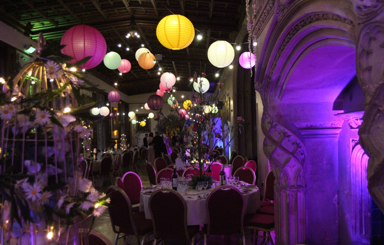 Ashton Court Mansion ready for a party.