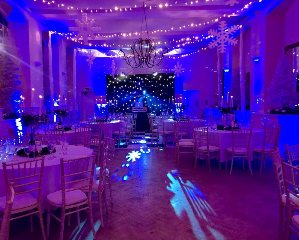 Winter Wonderland Themed Party Space