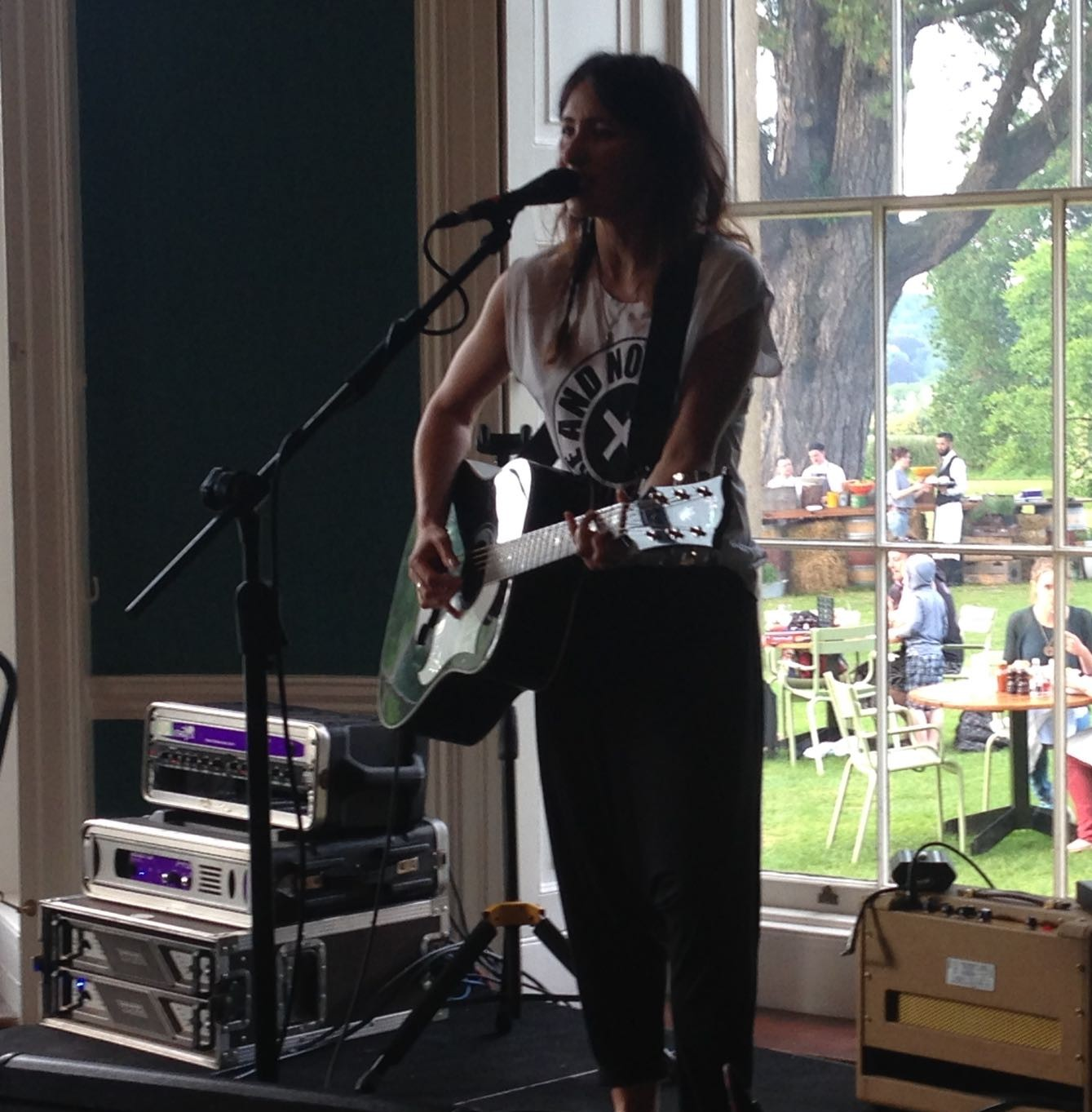 Image of K T Tungstall performing at Babington House.