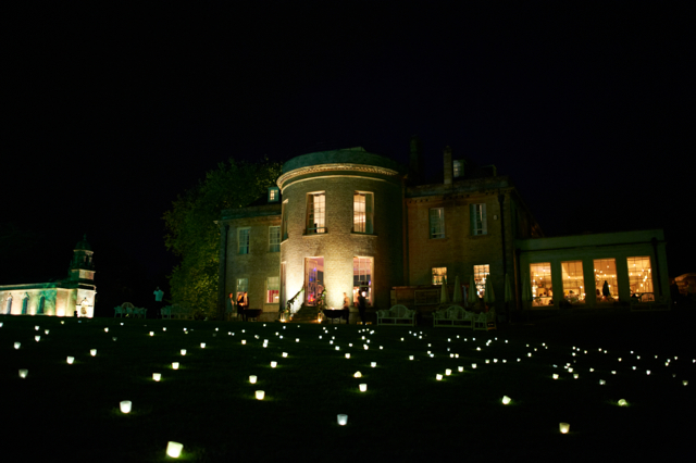 Image of field of light at Babington House