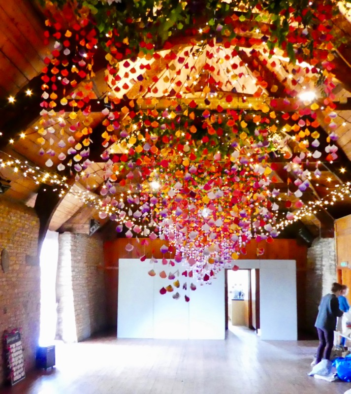 Mells Barn with Asian inspired canopy