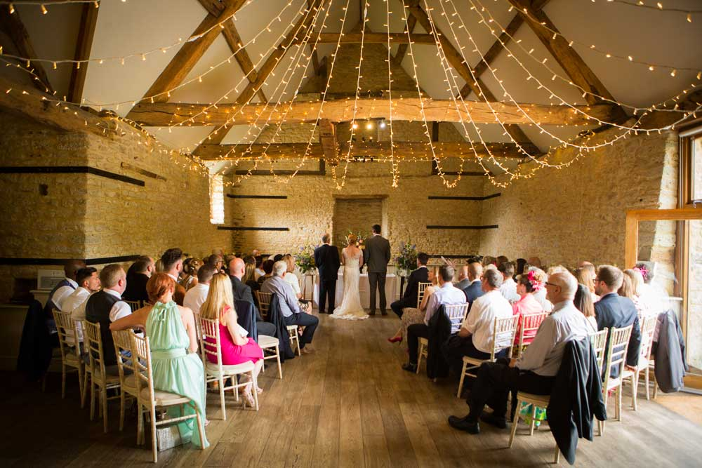 Wick Famr Wedding Venue in Bath with a stylish fairy-light canopy