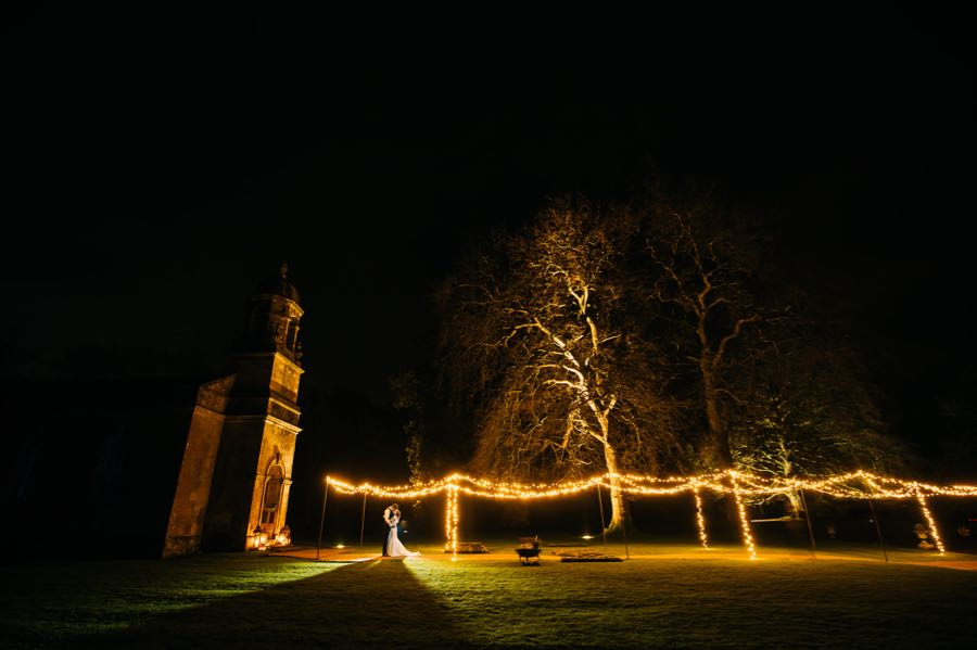 The Church at Babington House Hotel with a fiary-lighht canopy