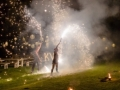Fire Performers are a great post-dinner cabaret act. Add a finale of big fire. Ria Mishall Photography
