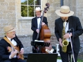 Image of the Cocktail Trio with Sax, Guitar and Double Bass.