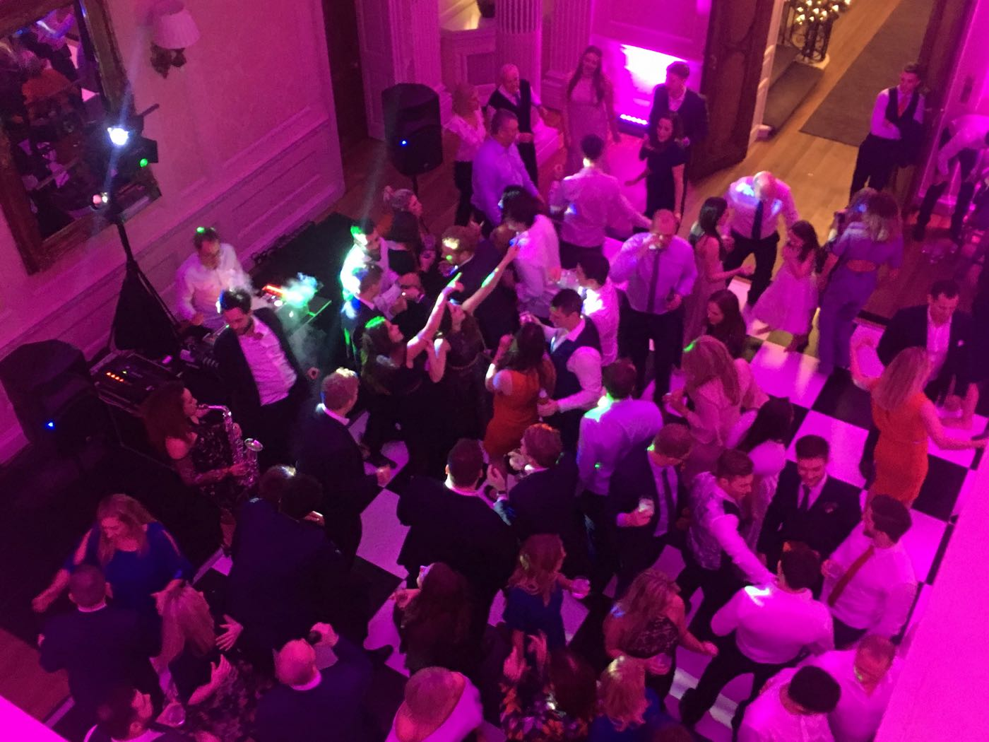Image of a Hedsor House Wedding Night Party with DJ and Sax player