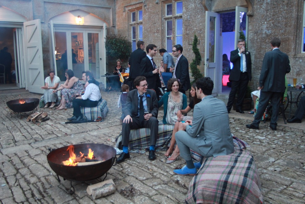 fire pit hire for weddings, parties and events